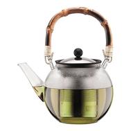 Пресс чайник Bodum Assam, с бамбуковой ручкой, прозрачный, 1,5 л - арт.11797-139, фото 1