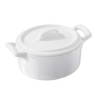 Кокотница овальная Revol Belle Cuisine, белая, 0.25л, 11х10см - арт.614824, фото 1