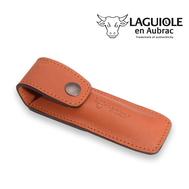 Чехол для складного ножа Laguiole En Aubrac с клипсой, коричневый, 12см - арт.ECM, фото 1