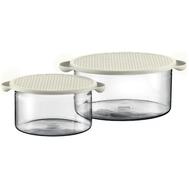 Стеклянные контейнеры Bodum Hot Pot, белые, 1л и 2.5л - 2 предмета - арт.K10127-913, фото 1