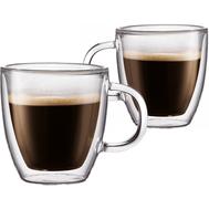 Чашки с двойными стенками Bodum Bistro, для эспрессо, 0,15 л - 2 шт - арт.10602-10, фото 1
