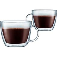 Чашки с двойными стенками Bodum Bistro, прозрачные, 0,45 л - 2 шт - арт.10608-10, фото 1