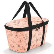 Термосумка детская Reisenthel Coolerbag Cats and dogs XS, розовая, 27,5 х 15,5 х 12см - арт.UF3064, фото 1