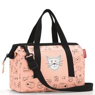 Детская сумка Reisenthel Allrounder XS Cats and dogs, розовая, 27см - арт.IQ3064, фото 1