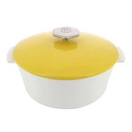 Кокотница круглая Revol Revolution, с желтой крышкой, фарфор, 22х14 см 2.4л - арт.649635, фото 1