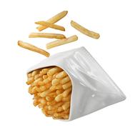 Конверт для картофеля фри Revol Appy Cuisine, белый фарфор, 12х11х7 см - арт.638758, фото 1