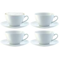 Набор чайных пар LSA International Dine, белые, 350мл - 4шт - арт.P019-13-997, фото 1