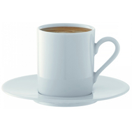 Набор кофейных пар LSA International Dine, белые, 90мл - 4шт - арт.P055-01-997, фото 1