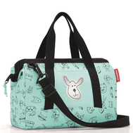 Детская сумка Reisenthel Allrounder XS Cats and dogs, мятная, 27см - арт.IQ4062, фото 1