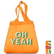 Сумка хозяйственная складная Reisenthel Mini maxi shopper, оранжевая Oh yeah, 43.5х65х6см - арт.SO0741, фото 1