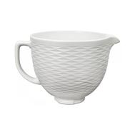 Чаша (дежа) керамическая KitchenAid 4.7л, белая, рифленая поверхность — арт.5KSMCB5TLW, фото 1