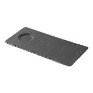 Тарелка сервировочная Revol Basalt, черный фарфор, 25x12x0.7 см - арт.640692, фото 1