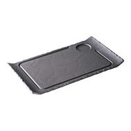 Тарелка прямоугольная для стейка с выемкой Revol Basalt, черный фарфор, 39.5х24х2см - арт.642667, фото 1