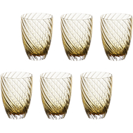 Цветные стаканы Italesse Vertigo Tumbler, янтарные, 380мл - 6шт - арт.3353, фото 1