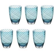 Цветные стаканы Italesse Vertigo Tumbler, голубые, 380мл - 6шт - арт.3355, фото 1