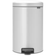 Контейнер для мусора с педалью Brabantia Newicon, серый металлик, 20 л - арт.114069, фото 1