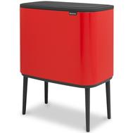 Двухсекционное ведро Brabantia Bo Touch Bin, красное, 11 + 23 л - арт.316104, фото 1