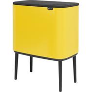Двухсекционное ведро Brabantia Bo Touch Bin, желтое, 11 + 23 л - арт.316128, фото 1