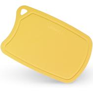 Пластиковая разделочная доска Samura Fusion, 380х250х2мм, желтая, полиуретан - арт.SF-02Y/K, фото 1
