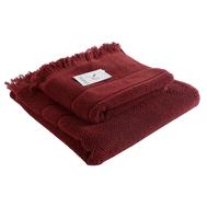 Банное полотенце Tkano Essential, с бахромой, бордовое, 70х140см - арт.TK18-BT0030, фото 1