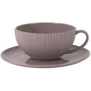 Чашка с блюдцем Home & Style Cocoa & Caramel, фарфор, какао, 200мл - арт.HS4-G099-4G2S, фото 1