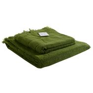 Банное полотенце Tkano Essential, с бахромой, оливково-зеленое, 70х140см - арт.TK18-BT0029, фото 1