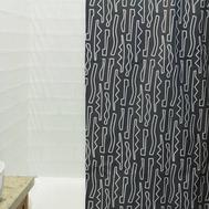 Шторка для ванной Tkano Objects, темно-серая, 200 х 180см - арт.TK18-SC0004, фото 1