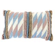 Чехол на подушку Tkano Ethnic, с бахромой, бежево-голубой, 30х60см - арт.TK18-CC0001, фото 1