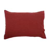 Льняная наволочка Tkano Essential, бордовая, 50х70см - арт.TK18-LP0007, фото 1