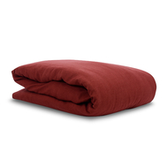 Пододеяльник 2-спальный Tkano Essential, льняной, бордовый, 200х200см - арт.TK18-LD0008, фото 1