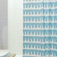 Шторка для ванной Tkano Popple, голубая, 200 х 180см - арт.TK18-SC0002, фото 1