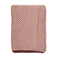 Хлопковый плед Tkano Essential, бордово-розовый, 130х180см - арт.TK18-TH0003, фото 1