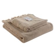 Банное полотенце Tkano Essential, с бахромой, бежевое, 70х140см - арт.TK18-BT0032, фото 1