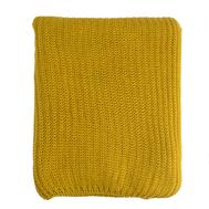 Вязаный плед Tkano Essential, горчичный, 130х180см - арт.TK18-TH0006, фото 1