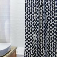 Штора для ванной Tkano Traffic, бело-синяя, 200 х 180см - арт.TK18-SC0005, фото 1
