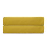 Простыня на резинке Tkano Essential, сатин горчичного цвета, 180х200х28 см - арт.TK19-FS0027, фото 1