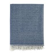 Плед из шерсти мериноса Tkano Essential, синего цвета, 130х180 см - арт.TK19-TH0008, фото 1