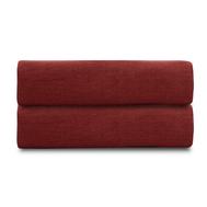Льняная простыня Tkano Essential, бордовая, 180х270см - арт.TK18-LS0022, фото 1