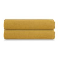 Льняная простыня Tkano Essential, горчичная, 180х270см - арт.TK18-LS0021, фото 1