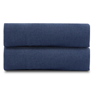 Простыня на резинке Tkano Essential, лён темно-синего цвета, 120х200х28 см - арт.TK18-LS0001, фото 1