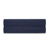Простыня на резинке Tkano Essential, сатин темно-синего цвета, 180х200х28 см - арт.TK19-FS0026, фото 1