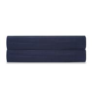 Простыня на резинке Tkano Essential, сатин темно-синего цвета, 160х200х28 см - арт.TK19-FS0021, фото 1
