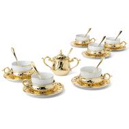 Чайный набор Chinelli Stradivari, с отделкой под золото, на 6 персон - арт.GA6207500AL, фото 1