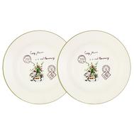 Набор суповых  тарелок Anna Lafarg LF Ceramics Букет, керамика, 21см - 2шт - арт.AL-80E2256-3-B-LF, фото 1