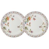 Набор закусочных тарелок Anna Lafarg Primavera Флора, фарфор, белая, 20.5см - 2шт - арт.AL-1557W-PP-P4, фото 1