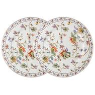 Набор обеденных тарелок Anna Lafarg Primavera Флора, фарфор, белая, 26.5см - 2шт - арт.AL-1557W-DP-P4, фото 1