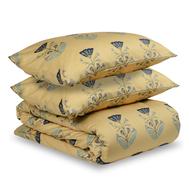 Комплект постельного белья полутораспальный Tkano Essential, сатин темно-синего цвета с принтом Летний цветок - арт.TK19-DC0004, фото 1