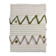 Покрывало из хлопка Tkano Ethnic, с бахромой, 180х250 см - арт.TK19-BS0009, фото 1