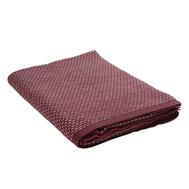 Плед из хлопка Tkano Essential, фактурной вязки бордового цвета, 130х180 см - арт.TK19-TH0005, фото 1