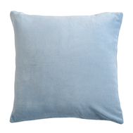 Подушка декоративная Tkano Essential, из хлопкового бархата светло-синего цвета, 45х45 см - арт.TK19-CU0006, фото 1